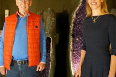 Deutsche Edelsteinkönigin Bettina Reiter und Hans-Jörg Ruschke vom Vorstand